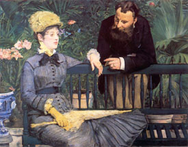 Edouard Manet: In the Conservatory - Romantic Art